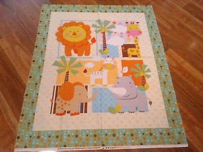 New Cot Quilt Panel Baby Quilting Cotton Material Baby Animals