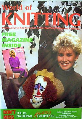 WORLD OF KNITTING - Patterns for Hand & Machine Knitters Sept 1987 - VGC & FP