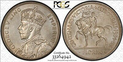 1934-35 Florin PCGS Graded MS63 Coin