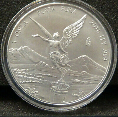 2016 Mexican Libertad 1 oz .999 Silver BU Round Bullion Coin - VERY LIMITED!