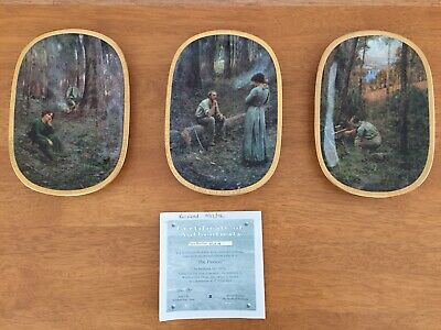 'The Pioneer' Triptych 3 Plate Collection By Frederick McCubbin. Bradford Exch