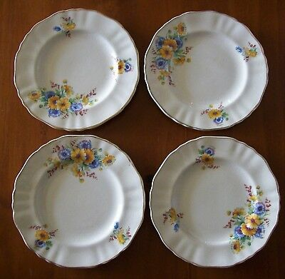 """J & G Meakin Sunshine Side Plates"" , Four (4) Of C1950 , Excellent Condition !"