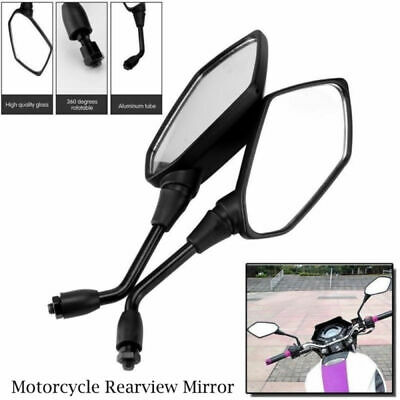 2x Motorcycle Motorbike Rearview Mirror 10mm for Honda Suzuki Kawasaki Victory