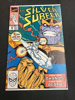 Silver Surfer #34 (Feb 1990, Marvel) Thanos High Grade And Combine Shipping