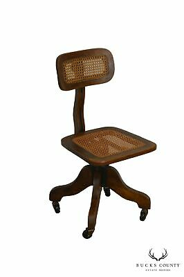 Sikes Antique Oak Adjustable Swivel Desk Chair