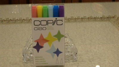 BRAND NEW & SEALED PACK - COPIC CIAO MARKERS - BRIGHTS Dual Tipped Markers