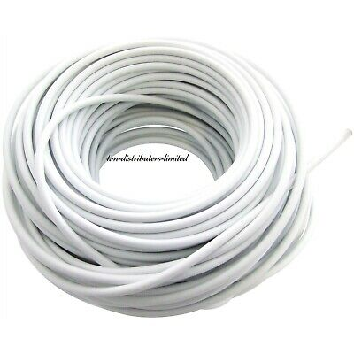 30m 100ft White Window Net Flexible Plastic Wire Cord Curtain Wire Cable New