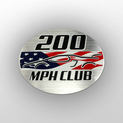 200 mph Club Aufkleber - Corvette ZR1 Ford GT40 Dodge SRT Viper Vector SCCA