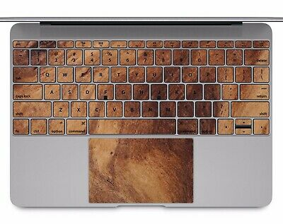 Macbook Pro Air 13 15 keyboard Stickers cover Decal Skins wood pattern KB040