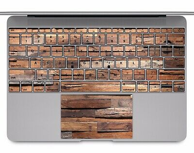 Macbook Pro Air 13 15 keyboard Stickers cover Decal skins Wood texture KB102