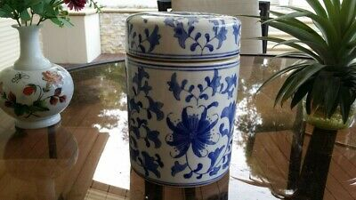 Vintage Chinese Blue And White Jar