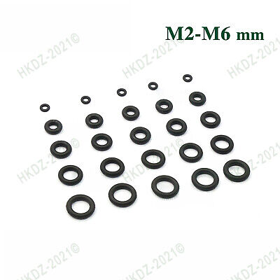 100pc ¢2~6 O-Ring Washer Cooling Fan  Shock Absorber Rubber Ring Shockproof Seal