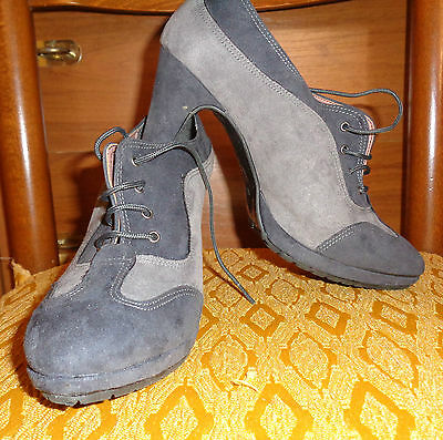 Francesine scamosciate scarpe donna Come Nuove - Woman shoes Made in Italy