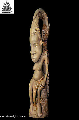 Fine Vintage Carved Clan Female Mother, E. Sepik, Papua New Guinea, PNG