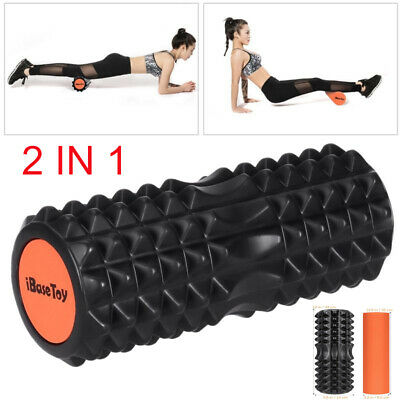 IBASETOY Foam Roller Deep Tissue Muscle Massage Trigger Point Therapy with Bag