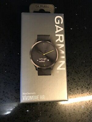 Garmin vivomove HR Hybrid Smart Watch (Large) – Black with Black Band