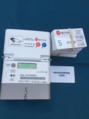 Card Meter Prepayment Emlite RFID with 100 CARDS.  PREOWNED
