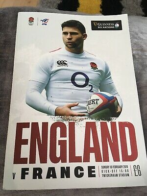 Six Nations ENGLAND v FRANCE Rugby Union Programme 10/02/19 Free Delivery.
