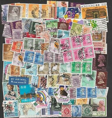 Hong Kong Large Collection Of Stamps Including Pairs & High Values (100+)