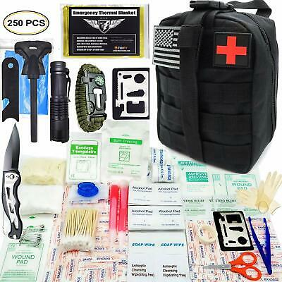 EVERLIT 250 Pieces Survival First Aid Kit IFAK Molle System Compatible Outdoor G