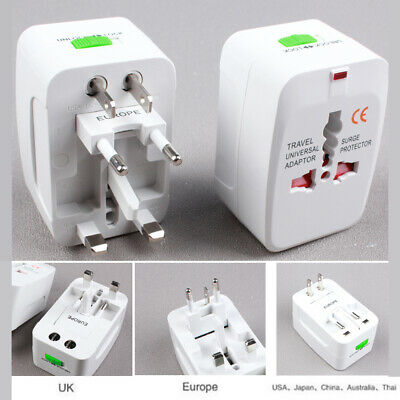 XU41 US to EU UK AU and Universal AC Power Plug World Travel Adapter Converter