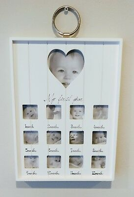 My 1St First Year Photo Frame - Monthly Baby Picture Hanging Display