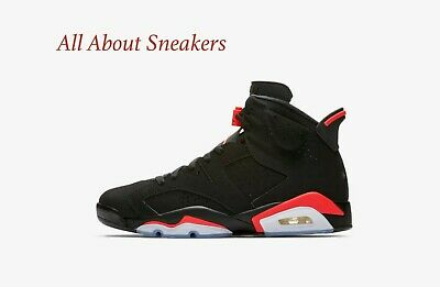 outlet store 4a81c 65cdc Nike Jordan 6 Retro OG Black Infrared Limited Stock All Sizes 384664-060
