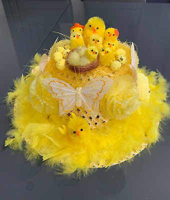 Easter Bonnet Ready Handmade Decorated Hat Girls Boys School Parades Hunt Party