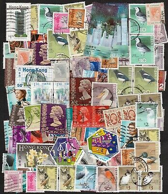 Hong Kong Large Collection Of Stamps Including Pairs & High Values (100)