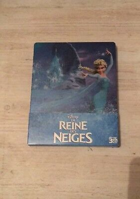 la reine des neiges Steelbook Blu-ray 3d Et Normal