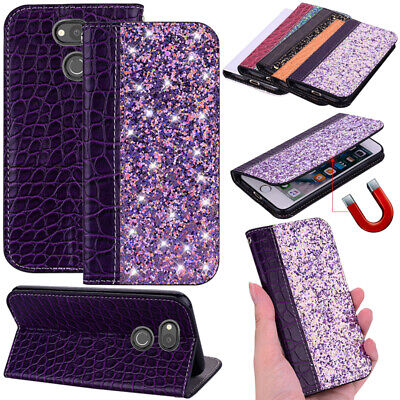 Case For Sony Xperia XZ3 XA2 L1 Glitter Flip PU Leather Wallet Stand Card Cover