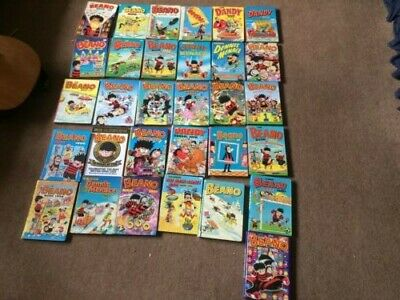 31 Beano, Dennis the Menace, the Dandy  annuals job lot