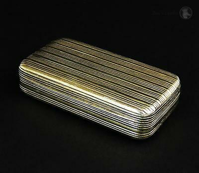 Stunning George III STERLING SILVER GILT SNUFF BOX London 1800 Roger Biggs