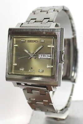 VINTAGE 1970s SEIKO DX Automatic 17 Jewel WRISTWATCH 6106-5009 - DAY DATE