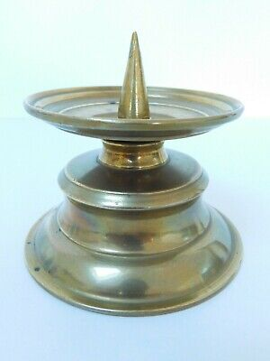 Solid Brass Pricket Candlestick Removable Sconce ~ Free Uk Postage