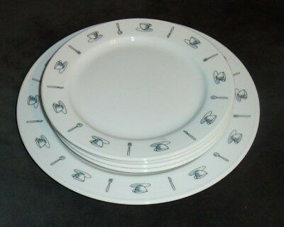 """5 Crate & Barrel Coffee Shop/ 4 ~ 8"""" Plates 1 ~10 1/2"""" by Kathleen Willis"""