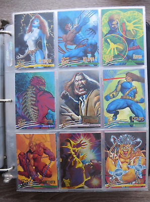1996 Fleer Ultra X-Men Wolverine Lot of 14 base cards + 2 Holoflash inserts