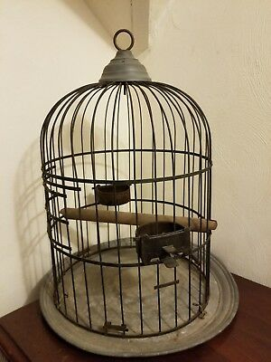 Antique Hendryx Bird Cage Late 1800's to early 1900's Heavy Metal