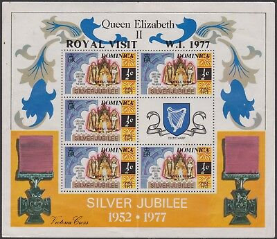 f037) Dominica. 1977. MNH/MM. SG 562 1/2c. Royal Visit Silver Jubilee