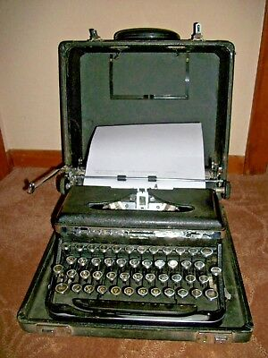 Antique 1941 ROYAL Typewriter Quiet Deluxe Portable Touch Control Case Manual
