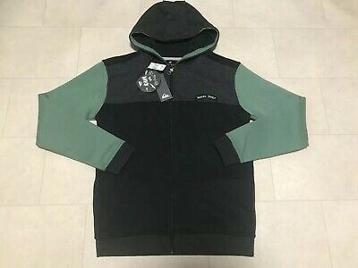 02cf69ec4 BOYS QUICKSILVER BLACK GREEN glow zip up hoodie age 14 15 years €51 ...