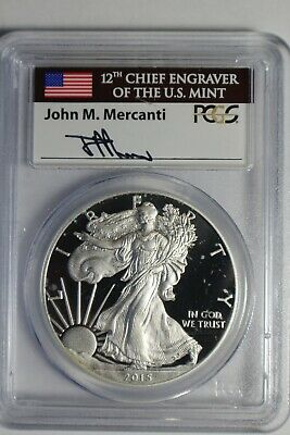2015 W PCGS PR70DCAM Silver Eagle First Day Issue Florida Mercanti #926 Spots