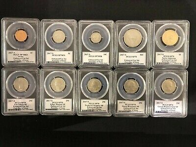 2017-S Enhanced Mint Set 10 COINS PCGS SP70 Exclusice Denver ANA First Day Issue