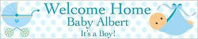 2 x Personalise Welcome Home Baby Banners - Boy or Girl