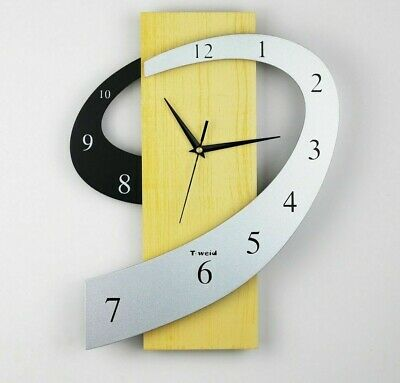 Single Face MDF Iron Abstracts Geometric Wall Clocks Needle Antique Styles Clock