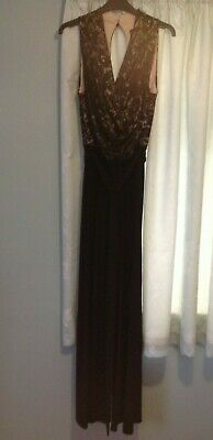 Phase Eight jumpsuit Size 12 Black & Beige