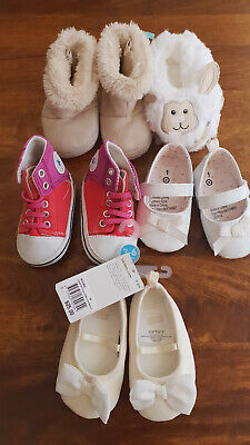 5x baby girl shoes bundle some NWT Converse Carters 6m 00