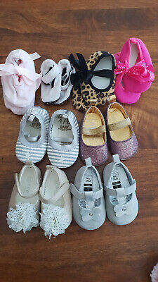 8x baby girls shoes slippers bundle 0-3m 000 inc Seed & Cotton On