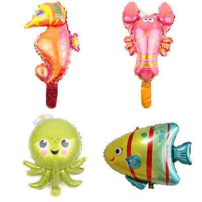 1pc Mini Sea Horse Shark Clown Fish Animal Balloons for Birthday Party DecoBLUS