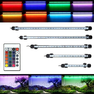 Waterproof Submersible Aquarium Fish Tank RGB LED Light Bar Strip Lamp+Remote BI
